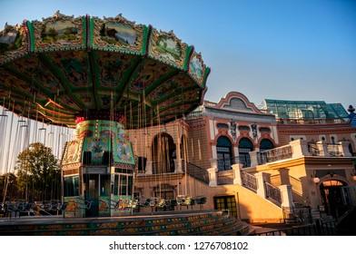 Carousel in Prater, Vienna
