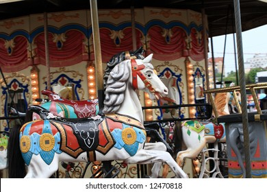 The carousel in the summer day, Moscow