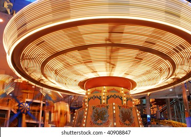 Carousel in the west edmonton mall (the world's largest indoor shopping mall), city edmonton, alberta, Canada