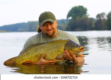 Carp and Fisherman, Carp fishing trophy.