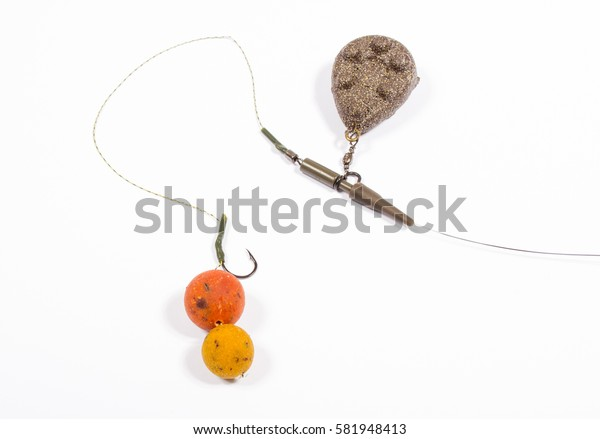 Carp Hook Boilies isolated on white background