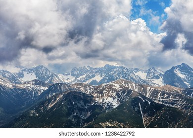 Carpathian mountain range, High Tatry view from polish side
