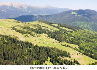 Carpathian Mountains in June. In some places the snow is not melted