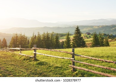 Carpathian mountains. The photo was taken high in the Carpathian Mountains. Beautiful sky and bright green grass, convey the atmosphere of the Carpathians. In the Carpathians, a very beautiful scenery