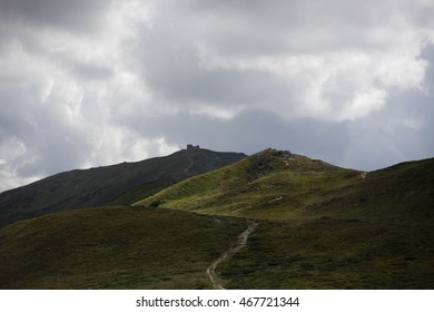 Carpathian Mountains. Route to Pip Ivan