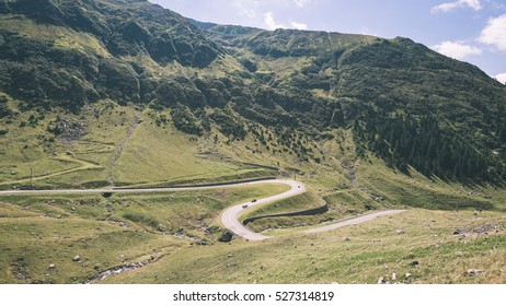 carpathian mountains in summer. romania, slovakia hiking tourist trails - vintage film effect
