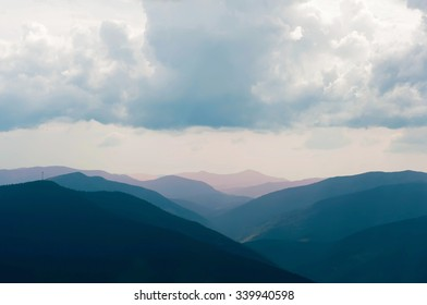 Carpathians Mountains View