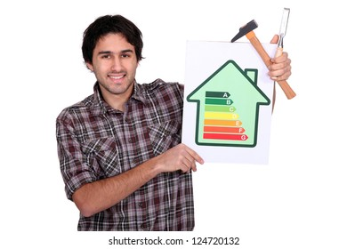 Carpenter with engergy information