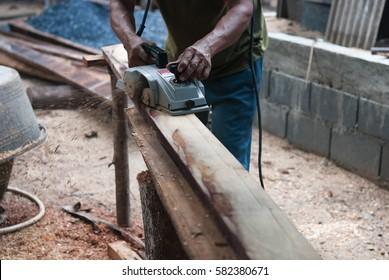 Carpenter tool.Carpenter at work.