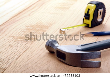 Carpenter Tools On Oak Wood Boards Stock Photo (Edit Now) 72258103 ... 9e8e76f9c6de