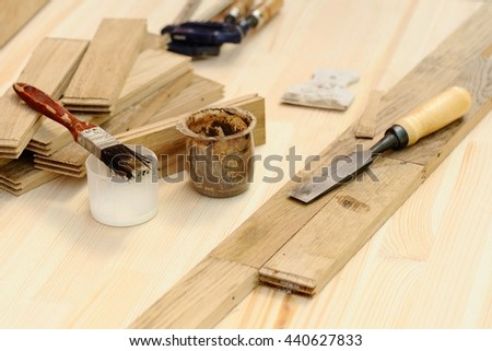 Carpenter Tools Working Wood Stock Photo Edit Now 440627833