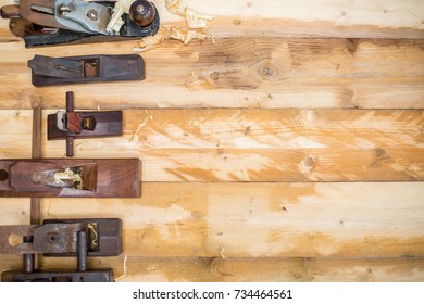 Carpenter tools for workshop handmade at home.