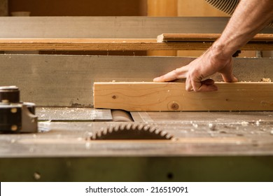 carpenter work with wood planer