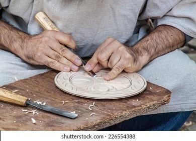 Carpenter working on his next masterpiece.