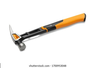 Carpenter's hammer isolated on a white background. Carpenter's tool