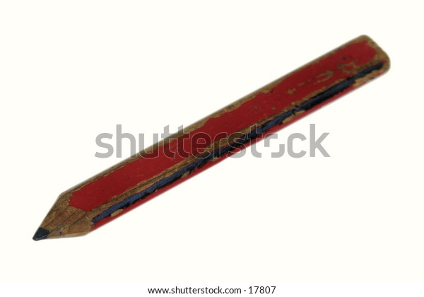 A carpenters Pencil isolated on white with clipping path.