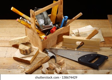 carpenter's tool on a workbench