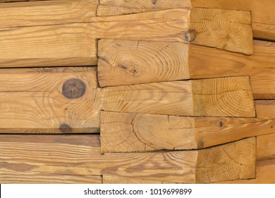 Carpentry joints with massive wooden beams