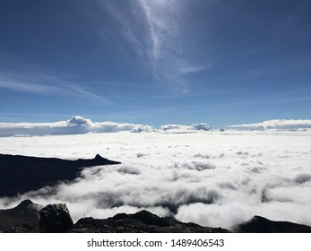 "Carpet of clouds at ""Pico Espejo"" cableway Mukumbarí, Mérida- Venezuela"