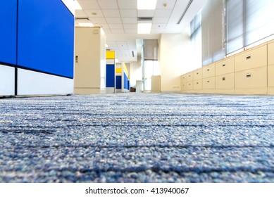 Carpet floor in office. selected focus on carpet