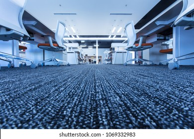 Carpet floor in office,selected focus on carpet,modern office interior.