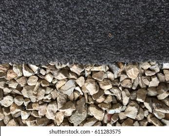 Carpet on gravel