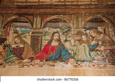 Carpet painting in vatican last supper
