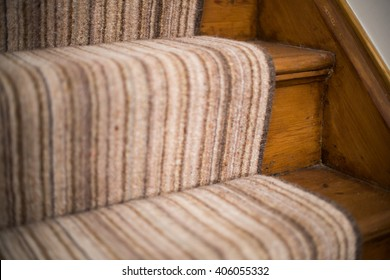 Carpet runner on stairs