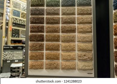 Carpet samples at a store