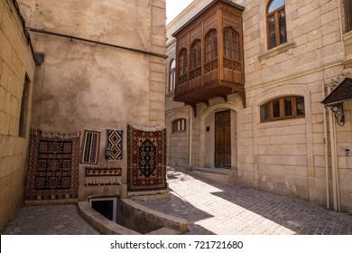 carpet shop in the old town in Baku - Azerbaijan capital