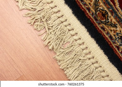 carpet tile and laminate parquet
