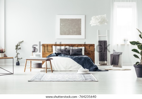 Carpet Wooden Bench Near King Size Stock Photo Edit Now 764235640