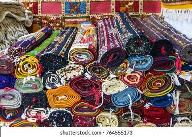 carpets in Morocco, oriental Moroccan ornamets