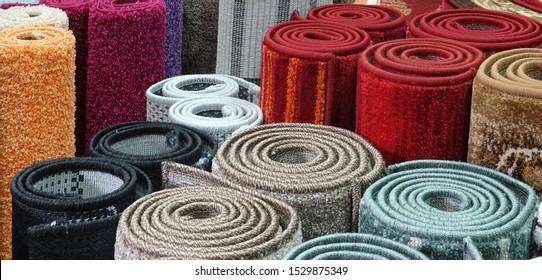Sortenwahl für Teppiche: Läden für aufgerollte Teppiche