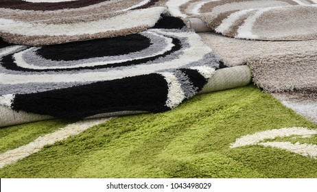 Carpets variety selection rugs shop store