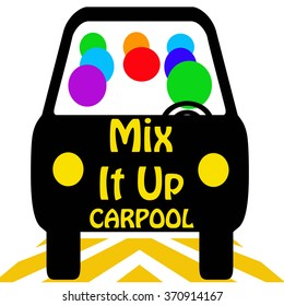carpool mix it up poster colorful illustration