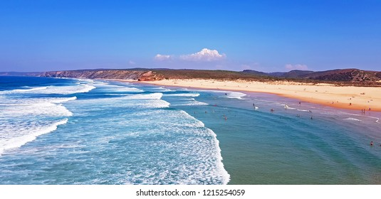 Carrapateira beach in the Algarve Portugal