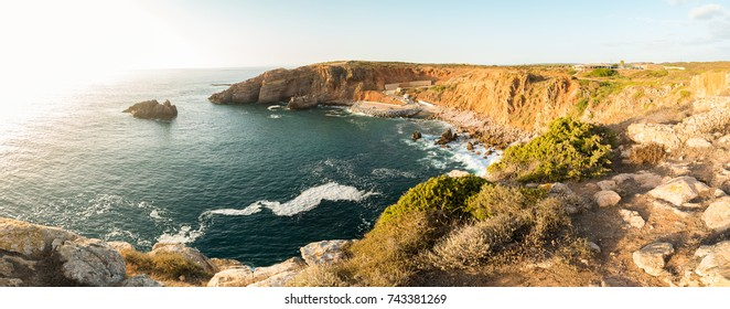 Carrapateira's Fishing Port at sunset, District Aljezur, Algarve Portugal