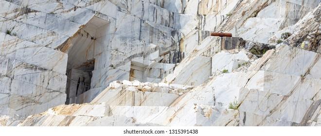 Carrara marble mine in Italy