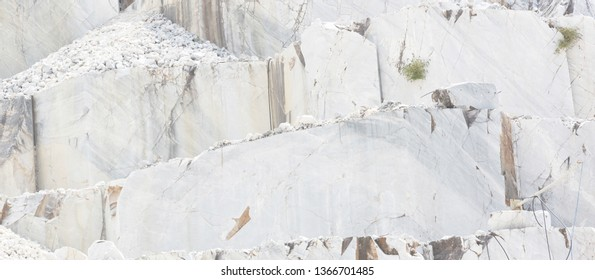 Carrara marble mine in Italy