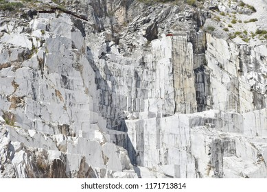 Carrara marble wall in a quarry