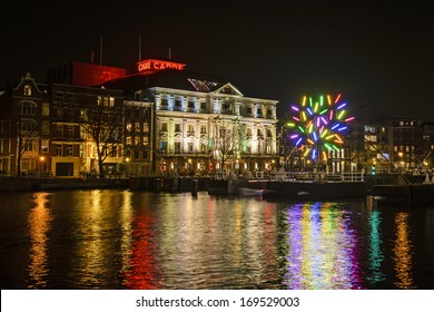 Carre on the Amstel in Amsterdam by evening