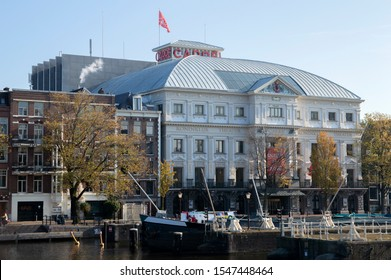 Carre Theater Along The Amstel River At Amsterdam The Netherlands 2019