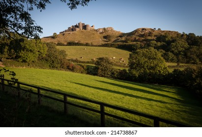 Carreg Cennen castle sits high on a hill near the River Cennen, in the village of Trap, four miles south of Llandeilo in Carmarthenshire, south Wales