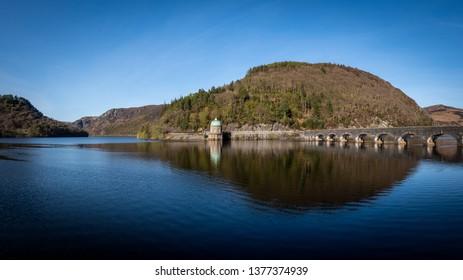 Carreg Ddu Viaduct and Reservoir, Elan Valley, Powys, Mid Wales, UK