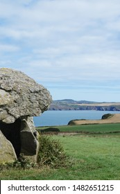 Carreg Samson, a 5000 year old neolithic dolmen half a mile west of Abercastle, Pembrokeshire, Wales
