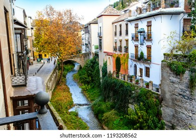 Carrera del Darro, Historic and Artistic Center of Granada, Granada, Andalusia, Spain, Iberian Peninsula