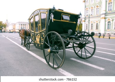 Carriage - back view - St. Petersburg, Russia