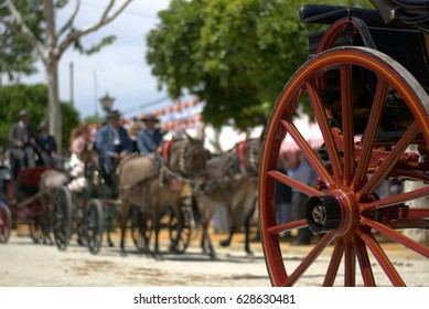 Carriage of cars at the Feria de Abril in Seville