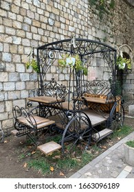 A carriage on a verge in Tirana, Albania